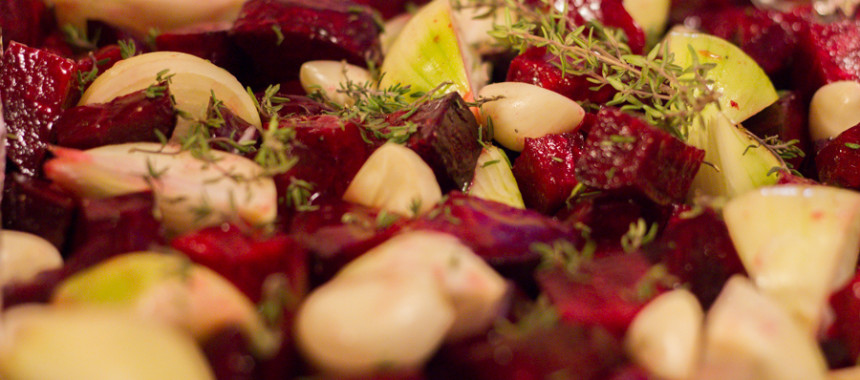 Roasted red beet with thyme