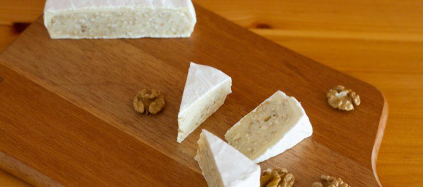 Walnut filled Camembert