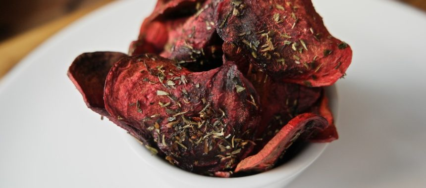 Beet Chips with Greek Herbs